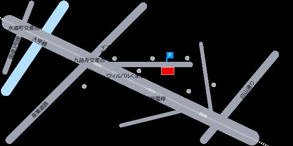熊本市障がい者福祉センター希望荘近郊略図